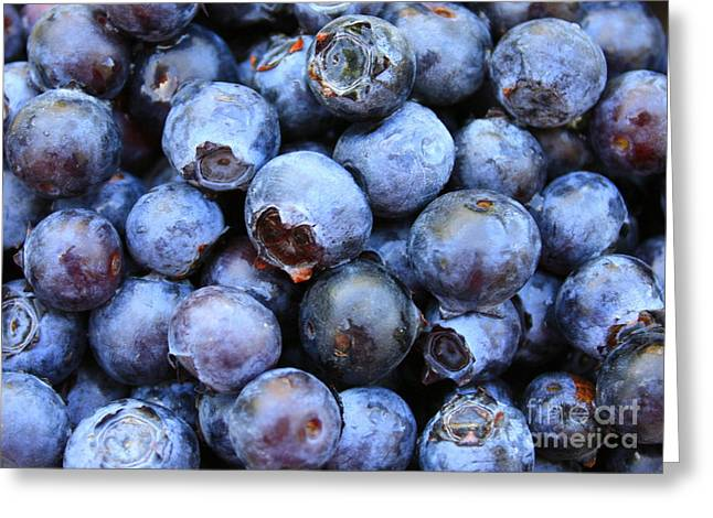 Fresh Food Greeting Cards - Blueberries Greeting Card by Carol Groenen