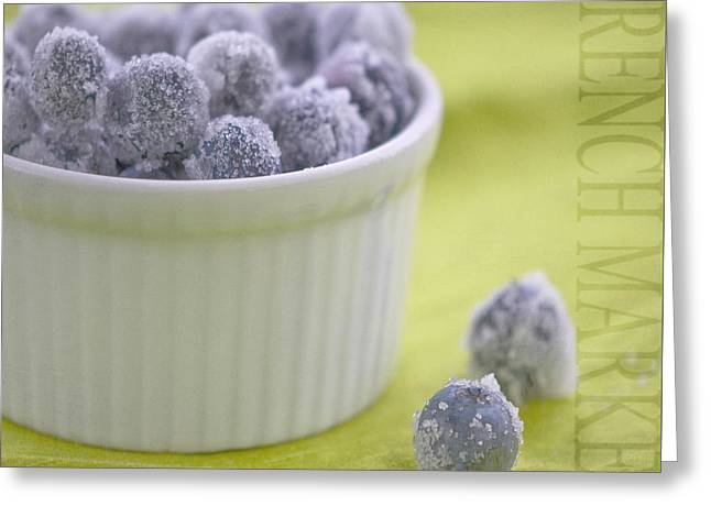 White Bowl Greeting Cards - Blueberries Greeting Card by Juli Scalzi