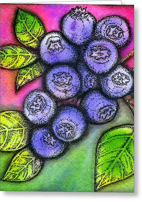 Dior Greeting Cards - Blueberries Greeting Card by Dion Dior