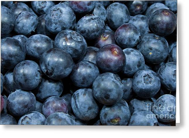 Blueberries Greeting Card by Michael Waters