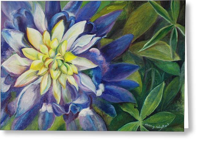 Starlet Paintings Greeting Cards - Bluebonnet Daze Greeting Card by Mary Wykes