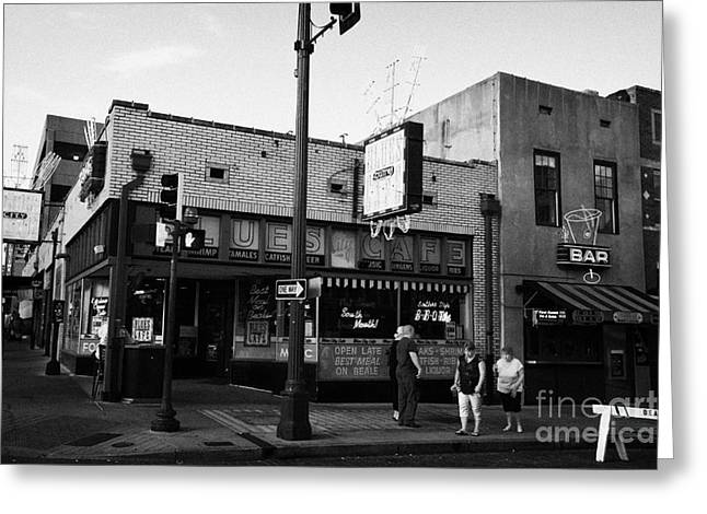 Beale Street Greeting Cards - Blues City Cafe On Beale Street In Downtown Memphis Tennessee Usa Greeting Card by Joe Fox