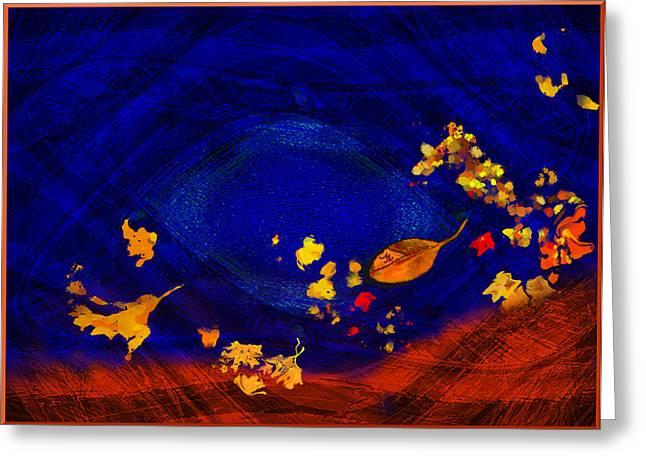 Mathilde Vhargon Greeting Cards - Blues In Autumn Greeting Card by Mathilde Vhargon
