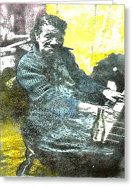 Blues Greeting Card by John Brisson
