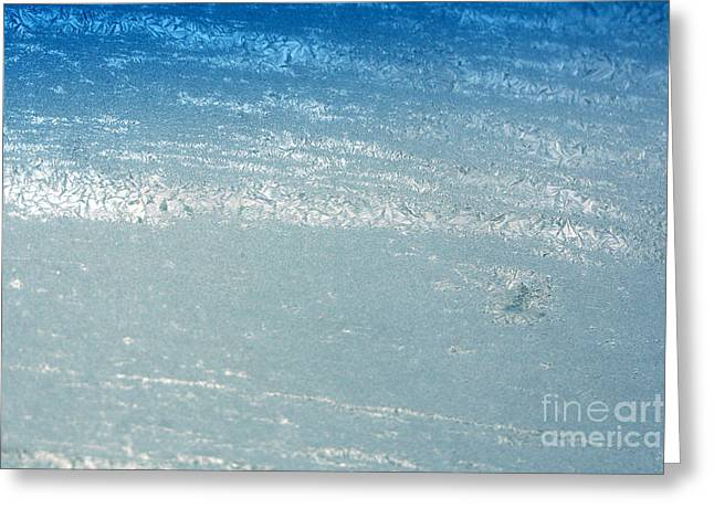 Wintry Greeting Cards - Bluish Ice Greeting Card by Susan Stevenson