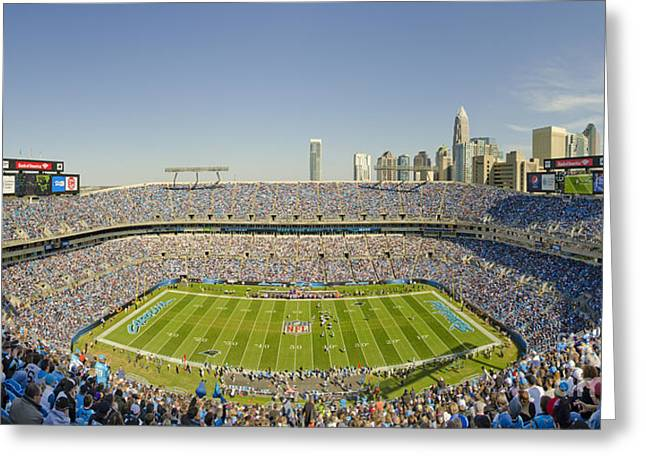 Clear Sky Images Greeting Cards - BOA Stadium Skyline Greeting Card by Clear Sky Images