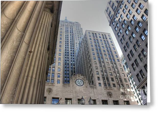 Chicago Board Of Trade Greeting Cards - Board of Trade Greeting Card by David Bearden