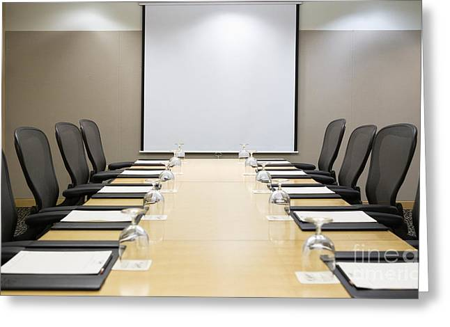 Meeting. Point Greeting Cards - Boardroom Greeting Card by Andersen Ross