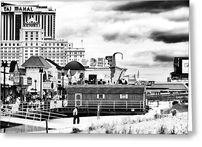 Casino Pier Greeting Cards - Boardwalk Casinos Greeting Card by John Rizzuto