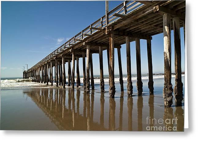 Pier Pilings Greeting Cards - Boardwalk, Cayucos, California Greeting Card by David Buffington