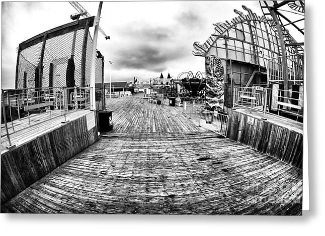 Seaside Heights Greeting Cards - Boardwalk Grit Greeting Card by John Rizzuto