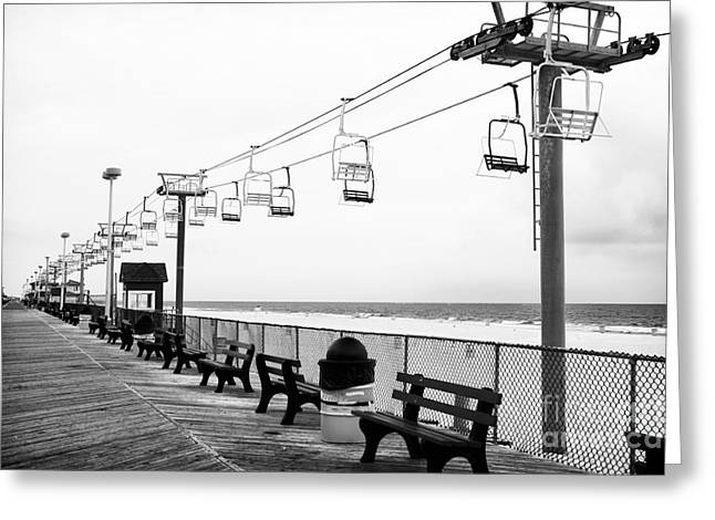 Boardwalk Photographs Greeting Cards - Boardwalk Ride Greeting Card by John Rizzuto