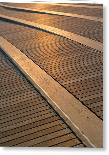 Textures Photographs Greeting Cards - Boardwalk Greeting Card by Sebastian Musial