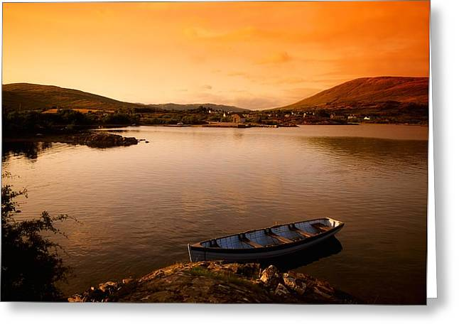 Co Galway Greeting Cards - Boat At Maam Cross, Co Galway, Ireland Greeting Card by The Irish Image Collection