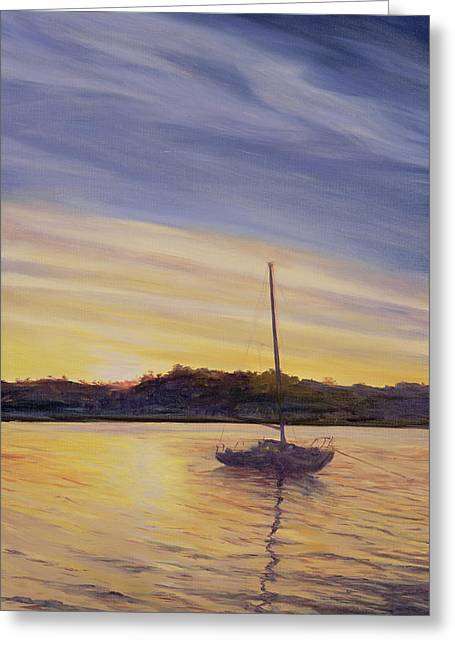 Moored Greeting Cards - Boat at Rest Greeting Card by Antonia Myatt