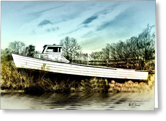 Bill Cannon Photography Greeting Cards - Boat Beached By the Bay Greeting Card by Bill Cannon