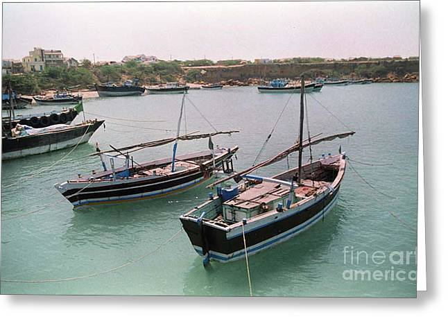 India Pyrography Greeting Cards - Boat Greeting Card by Igor Fedonyuk
