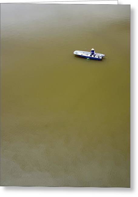 Boat In Water Greeting Card by Bjorn Svensson