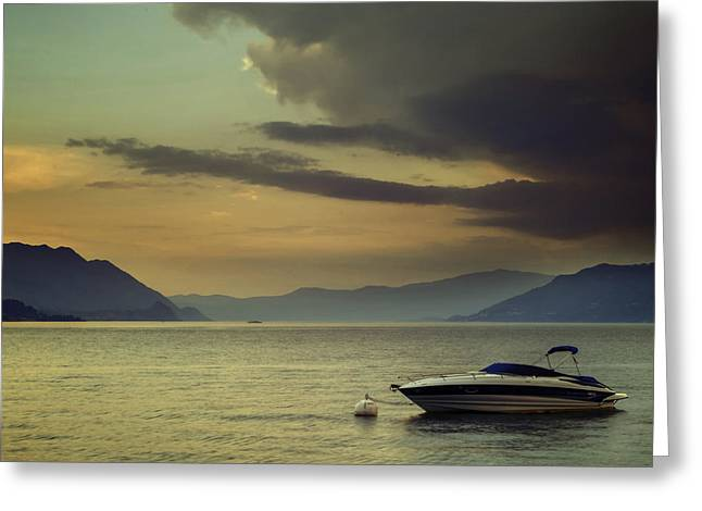 Summer Landscape Greeting Cards - Boat Greeting Card by Joana Kruse