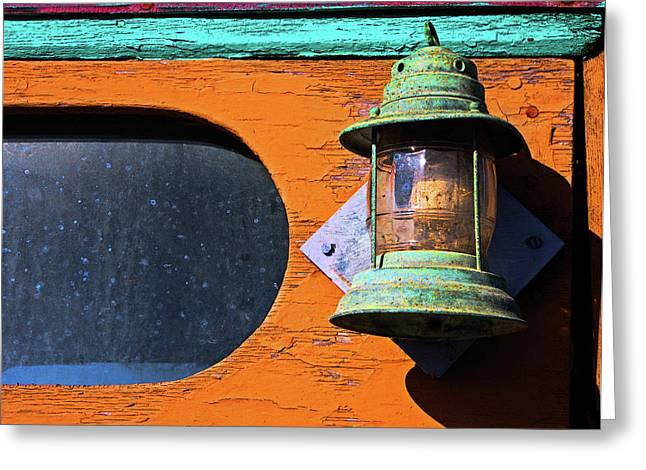 Moss Landing Boats Greeting Cards - Boat Lantern Greeting Card by Armando Picciotto
