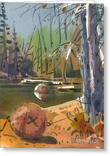 Moorings Greeting Cards - Boat Moorings Greeting Card by Donald Maier