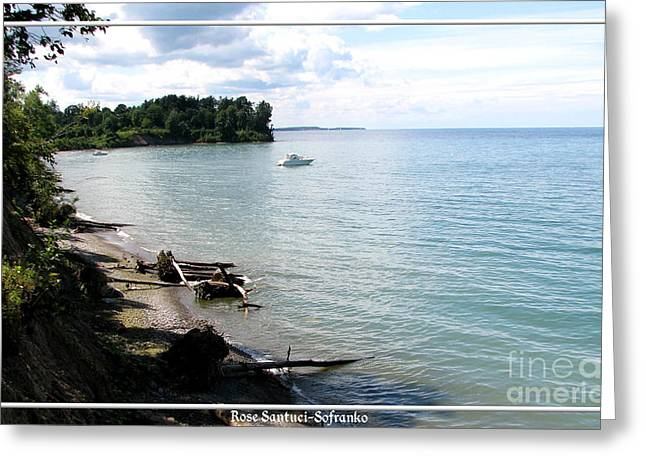 Boat On Lake Ontario Greeting Card by Rose Santuci-Sofranko