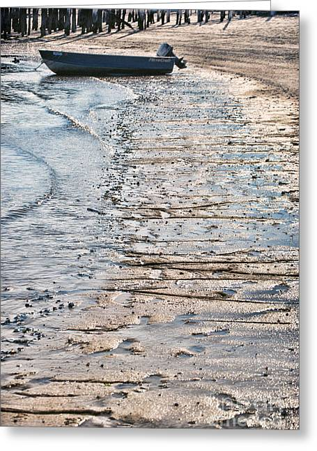 Provincetown Greeting Cards - Boat On The Beach Greeting Card by HD Connelly