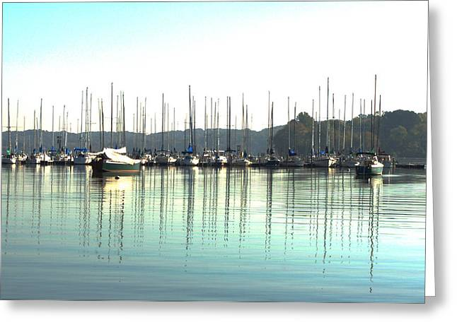 Boat Reflections Greeting Card by Bill Kennedy