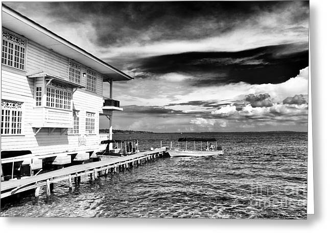 Boats In Water Photographs Greeting Cards - Boat Ride in Bocas Greeting Card by John Rizzuto