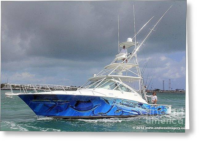 Boating Digital Greeting Cards - Boat Wrap on Cabo Greeting Card by Carey Chen