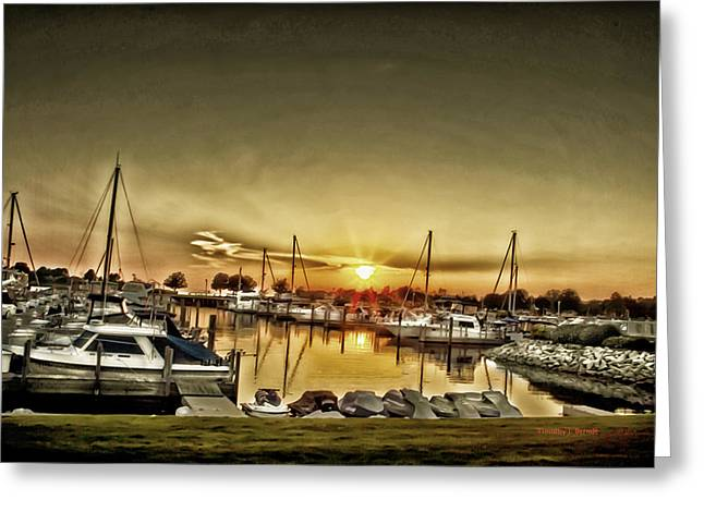 Timothy J Berndt Greeting Cards - Boaters Delight Greeting Card by Timothy J Berndt
