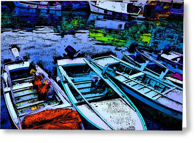 Boats 2 Greeting Card by Mauro Celotti