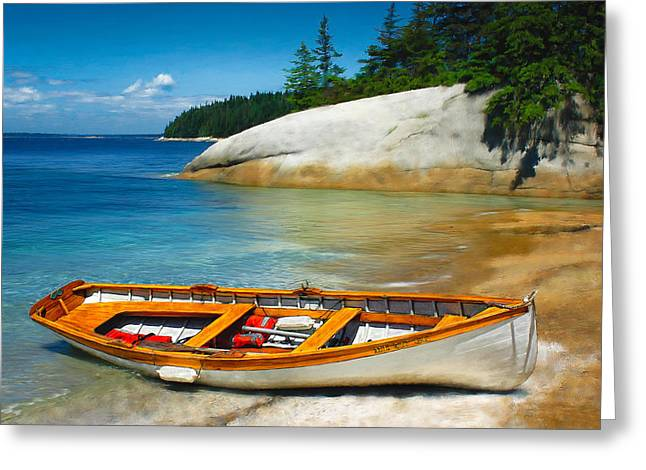 Schooner Greeting Cards - Boats 3 Greeting Card by Fred LeBlanc