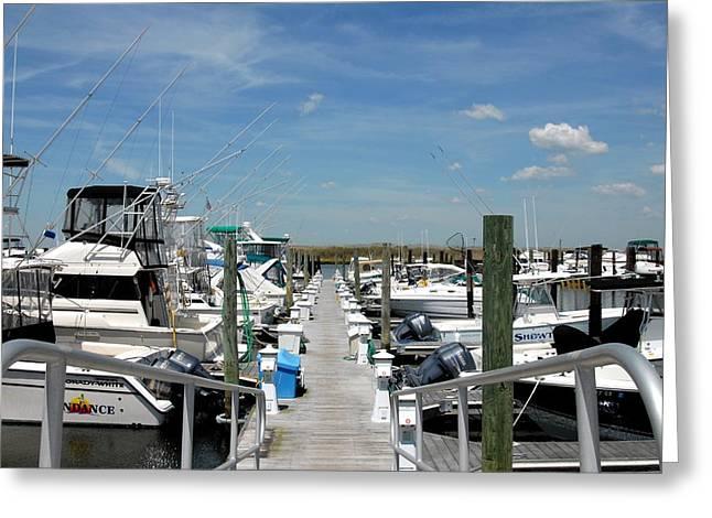 Sailboats Docked Greeting Cards - Boats 31 Greeting Card by Joyce StJames