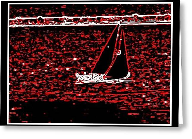 Sea Animals Greeting Cards - Boats And Sea--6 Greeting Card by Anand Swaroop Manchiraju