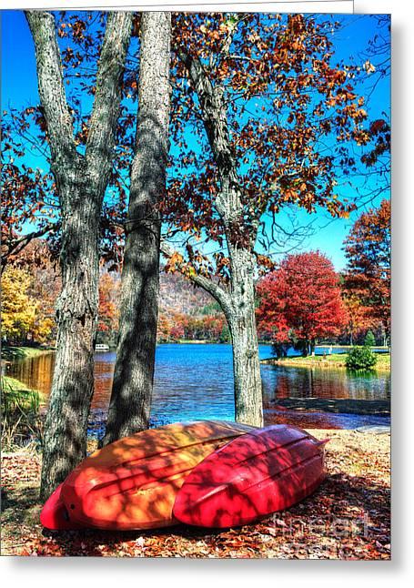 Virginia Artists Greeting Cards - Boats at Lake Sherando II Greeting Card by Dan Carmichael