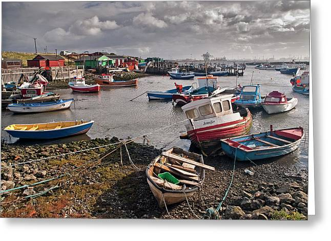 Port Holes Greeting Cards - Boats at Paddys Hole Greeting Card by Gary Eason