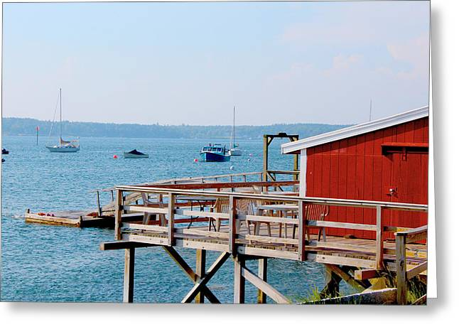 Boats At Dock Greeting Cards - Boats at Rest Greeting Card by Robbie Basquez