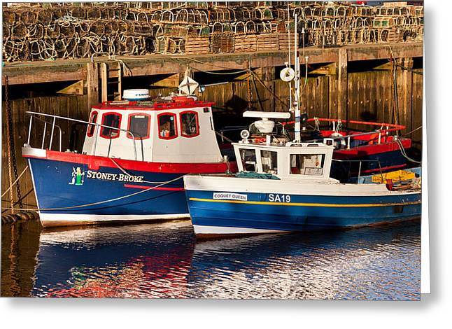 Abbey Giclee Print Greeting Cards - Boats Greeting Card by Gary Finnigan
