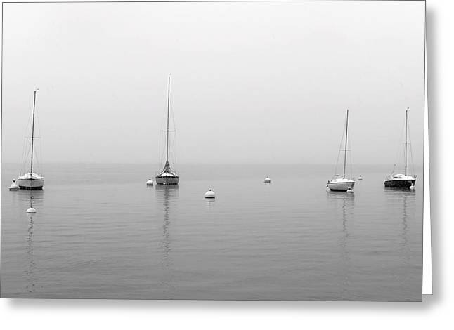 Winter Travel Photographs Greeting Cards - Boats In The Snow Greeting Card by Joana Kruse