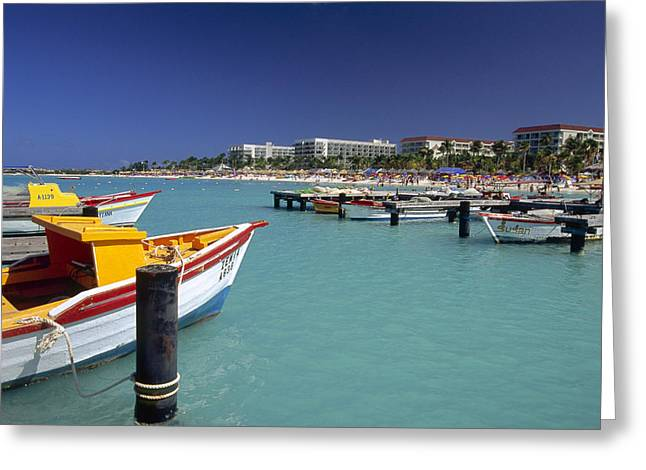 Antilles Greeting Cards - Boats of Palm Beach  Greeting Card by George Oze