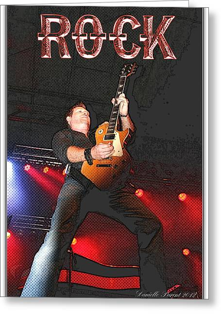 Guitare Greeting Cards - Bob Champoux Rock 1 Greeting Card by Danielle  Parent