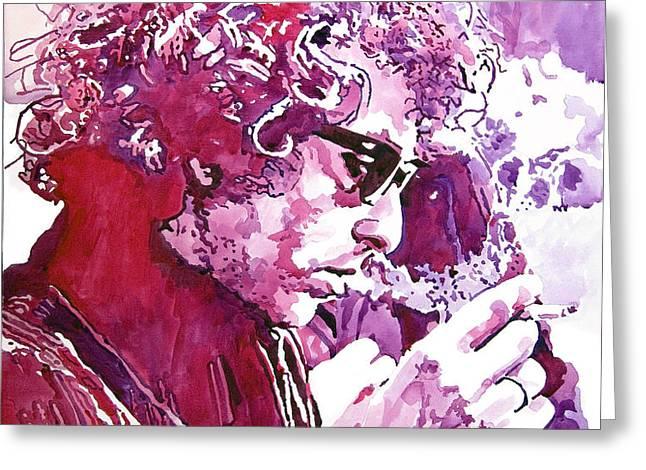 Bob Dylan Greeting Card by David Lloyd Glover