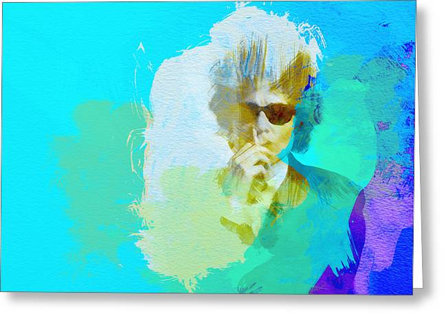 Rock Stars Paintings Greeting Cards - Bob Dylan Greeting Card by Naxart Studio