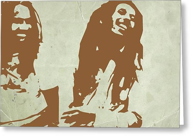 Jamaican Greeting Cards - Bob Marley Brown 2 Greeting Card by Naxart Studio