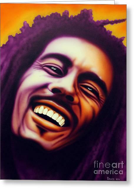 Bob Marley Artwork Greeting Cards - Bob Marley Greeting Card by Bruce Carter