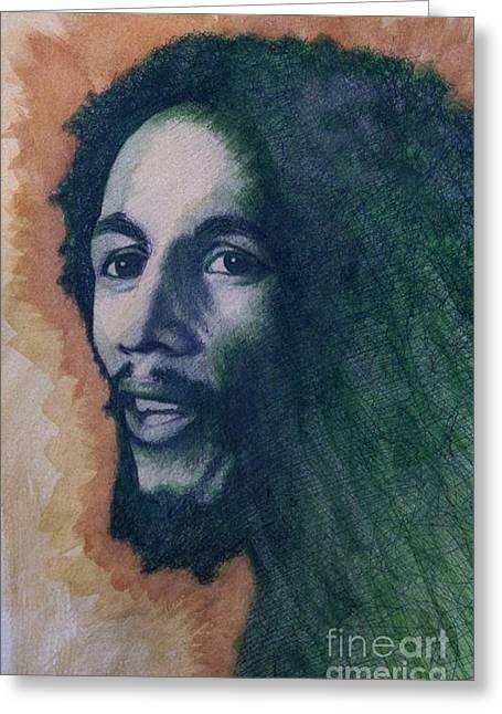 Bob Marley Greeting Card by James Flynn
