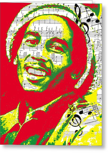 Rasta Greeting Cards - Bob Marley Musical Legend Greeting Card by Brad Scott
