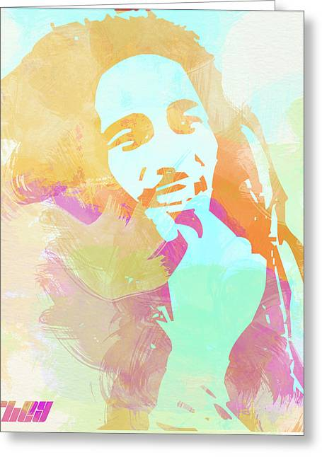 Cried Greeting Cards - Bob Marley Greeting Card by Naxart Studio