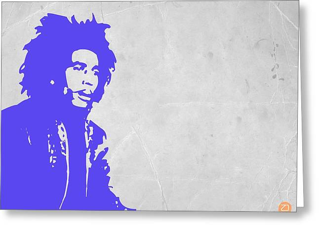 Jamaican Paintings Greeting Cards - Bob Marley Purple 3 Greeting Card by Naxart Studio